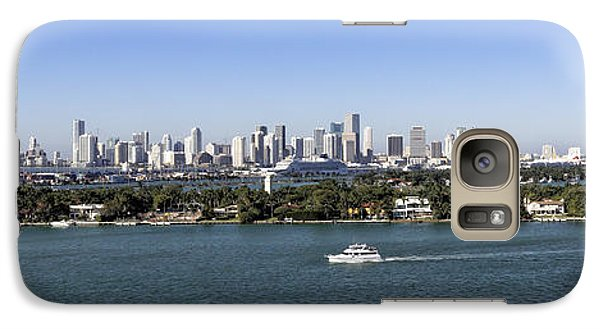 Galaxy Case featuring the photograph Miami Daytime Panorama by Gary Dean Mercer Clark