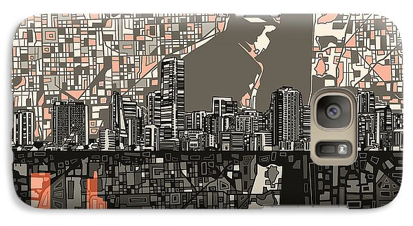 Miami Skyline Abstract 2 Galaxy S7 Case