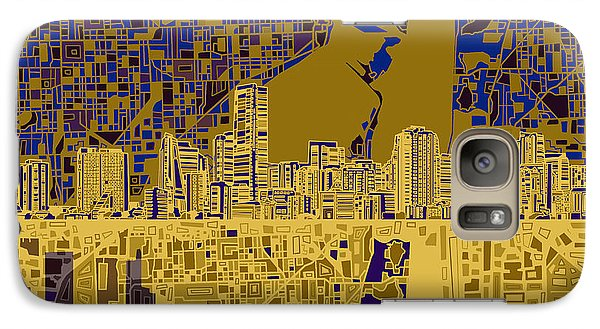 Miami Skyline Abstract 3 Galaxy S7 Case