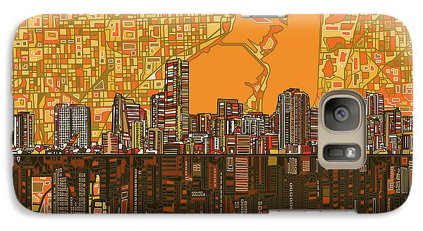 Miami Skyline Abstract 5 Galaxy S7 Case