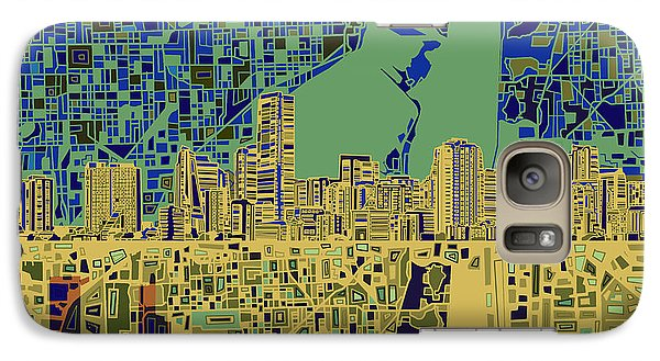 Miami Skyline Abstract 7 Galaxy S7 Case