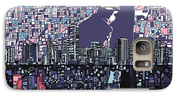 Miami Skyline Abstract Galaxy S7 Case