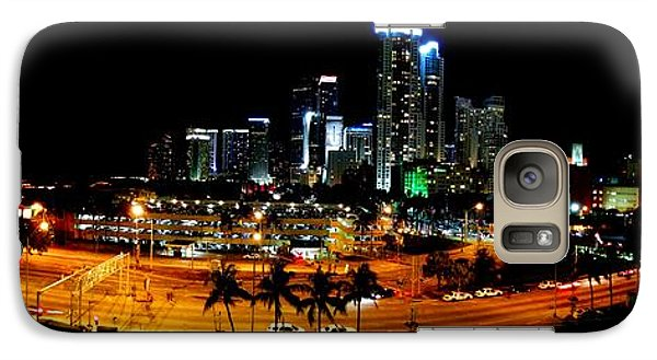 Galaxy Case featuring the photograph Miami Skyline by J Anthony