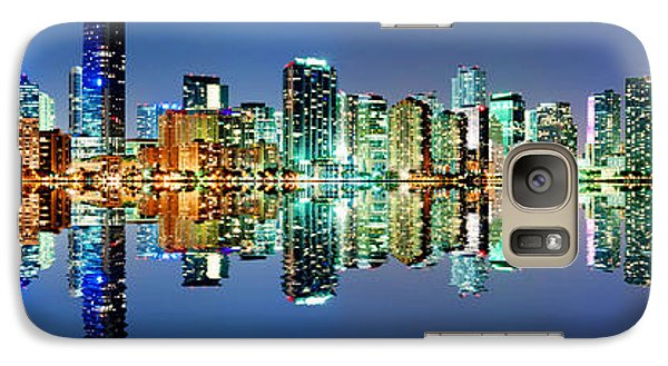 Galaxy Case featuring the photograph Miami Skyline Panorama by Carsten Reisinger