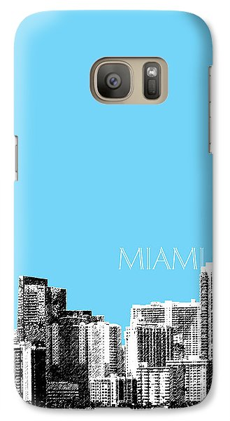 Miami Skyline - Sky Blue Galaxy S7 Case