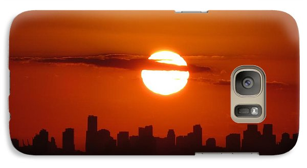 Galaxy Case featuring the photograph Miami Sunset by Jennifer Wheatley Wolf