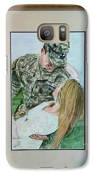 Galaxy Case featuring the painting Michael Audrey Framed Wedding Gift by Richard Benson