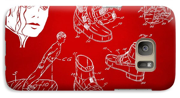 Michael Jackson Anti-gravity Shoe Patent Artwork Red Galaxy S7 Case by Nikki Marie Smith