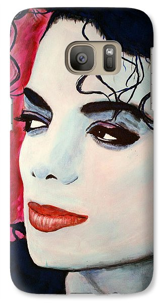 Galaxy Case featuring the painting Michael Jackson Art - Full Color by Bob Baker