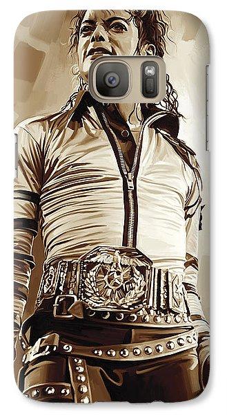 Michael Jackson Artwork 2 Galaxy S7 Case by Sheraz A