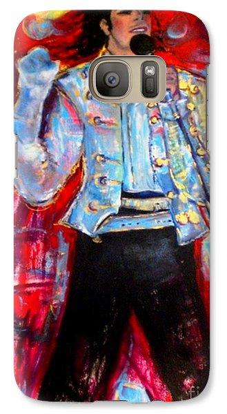 Galaxy Case featuring the painting Michael Jackson I'll Be There by Helena Bebirian