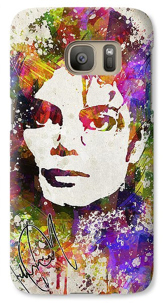 Michael Jackson In Color Galaxy S7 Case by Aged Pixel