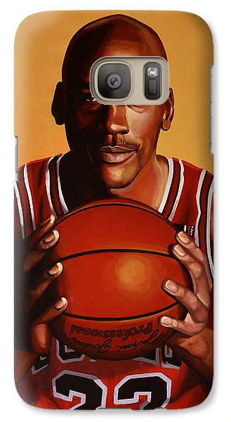 Sports Galaxy S7 Case - Michael Jordan 2 by Paul Meijering