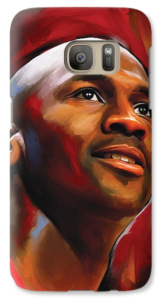 Michael Jordan Artwork 2 Galaxy Case by Sheraz A