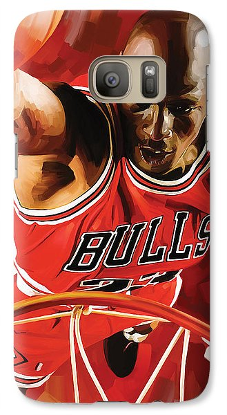 Michael Jordan Artwork 3 Galaxy Case by Sheraz A