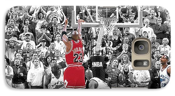 Michael Jordan Buzzer Beater Galaxy Case by Brian Reaves