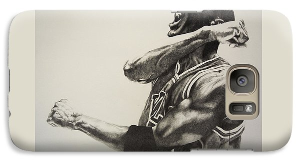 Michael Jordan Galaxy Case by Jake Stapleton