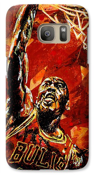 Wizard Galaxy S7 Case - Michael Jordan by Maria Arango