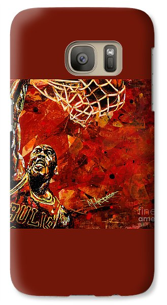 Michael Jordan Galaxy Case by Maria Arango