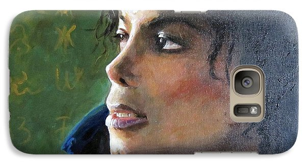 Galaxy Case featuring the painting Michael Joseph Jackson by Jieming Wang