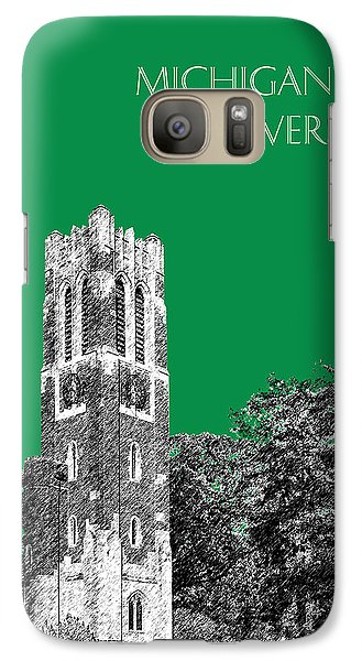 Michigan State Galaxy S7 Case - Michigan State University - Forest Green by DB Artist