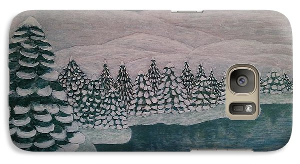 Galaxy Case featuring the painting Michigan Winter by Jasna Gopic