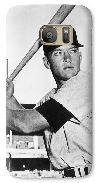 Mickey Mantle At-bat Galaxy S7 Case by Gianfranco Weiss