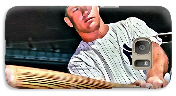 Mickey Mantle Painting Galaxy Case by Florian Rodarte