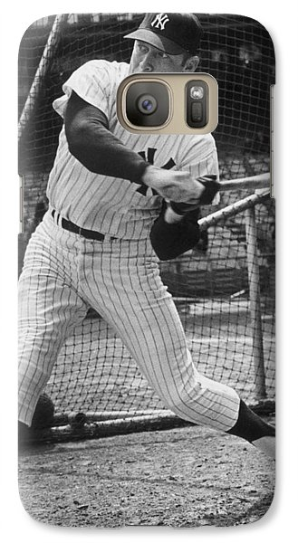 Mickey Mantle Poster Galaxy Case by Gianfranco Weiss
