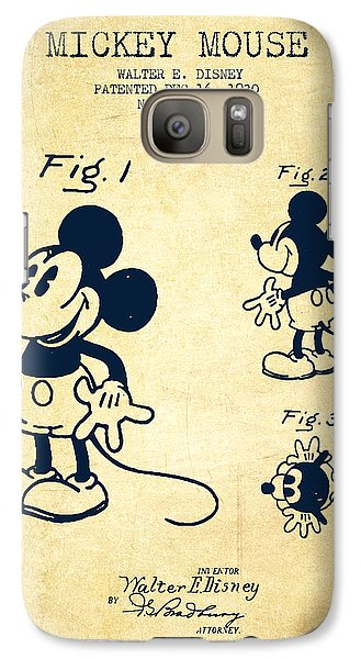 Mickey Mouse Patent Drawing From 1930 - Vintage Galaxy S7 Case
