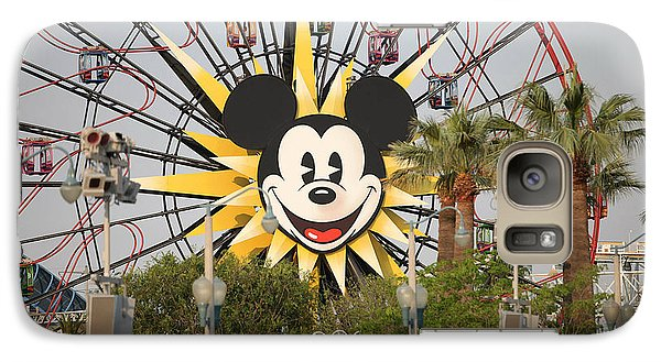 Galaxy Case featuring the photograph Mickey Mouse Wheel by Michael Albright