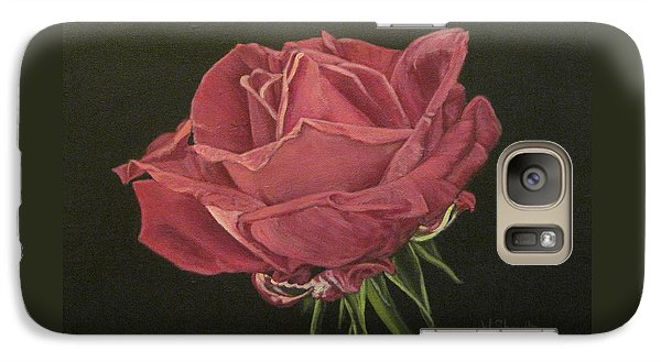 Galaxy Case featuring the painting Mid Bloom by Wendy Shoults