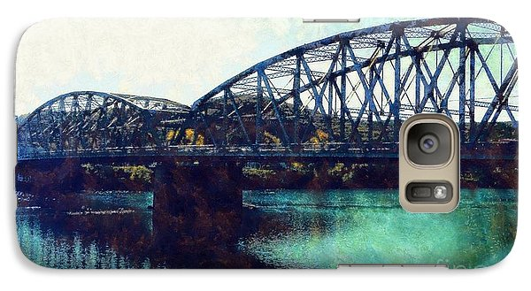 Galaxy Case featuring the photograph Mid-delaware River Bridge by Janine Riley