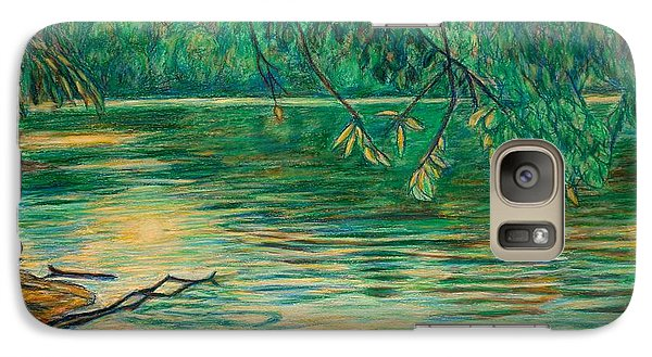 Galaxy Case featuring the painting Mid-spring On The New River by Kendall Kessler