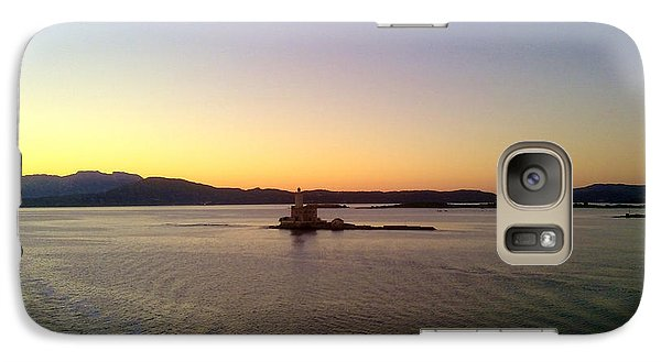 Galaxy Case featuring the photograph Middle Sea Sunrise by Ramona Matei