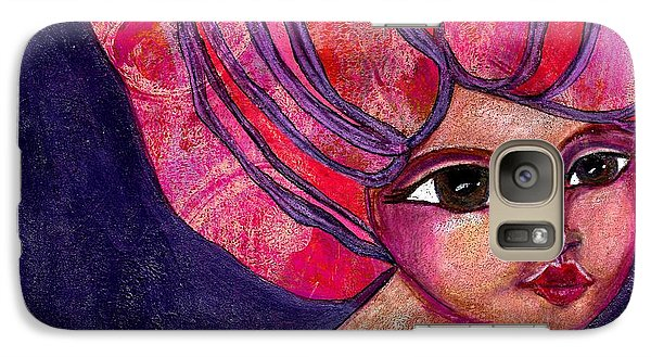 Galaxy Case featuring the mixed media Midnight Dreamer by Lisa Noneman
