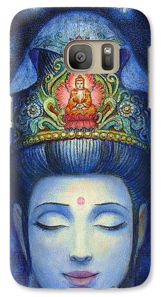 Galaxy Case featuring the painting Midnight Meditation Kuan Yin by Sue Halstenberg
