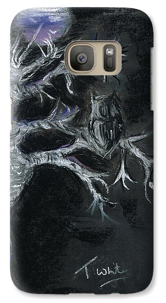 Galaxy Case featuring the drawing Midnight Owl by Teresa White