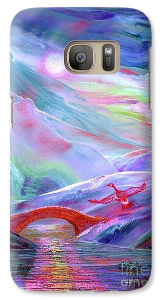 Geese Galaxy S7 Case -   Midnight Silence, Flying Goose by Jane Small