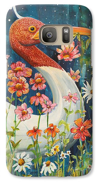 Stork Galaxy S7 Case - Midnight Stork Walk by Blenda Studio