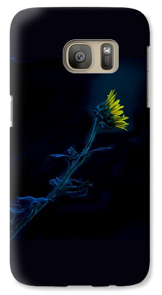 Galaxy Case featuring the photograph Midnight Sunflower by Darryl Dalton