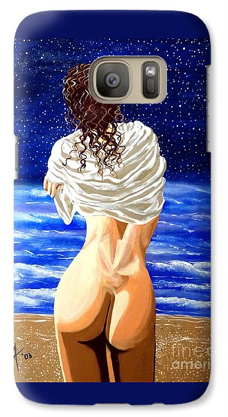 Galaxy Case featuring the painting Midnight Swim by Jackie Carpenter