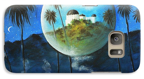 Galaxy Case featuring the painting Midnights Dream In Los Feliz by S G