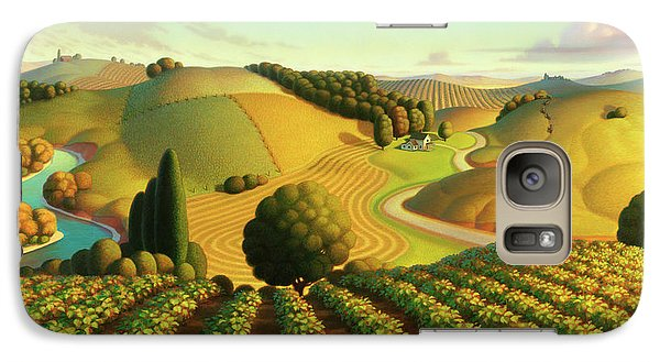 Galaxy Case featuring the painting Midwest Vineyard by Robin Moline