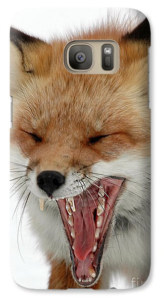 Galaxy Case featuring the photograph Mighty Big Yawn by Sami Martin
