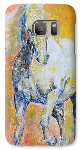 Galaxy Case featuring the painting Mighty Mare by Jennifer Godshalk
