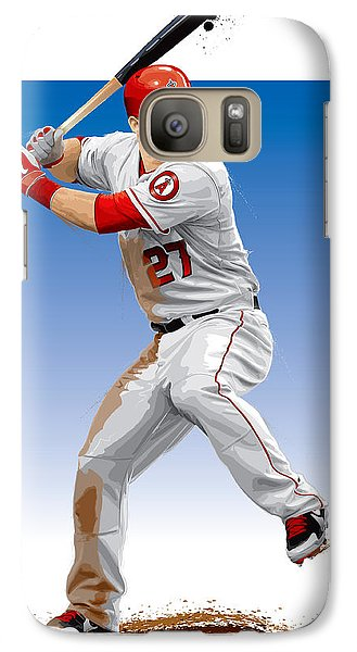 Galaxy Case featuring the digital art Mike Trout by Scott Weigner