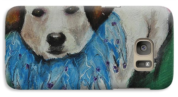 Galaxy Case featuring the painting Mikey by Jeanne Fischer