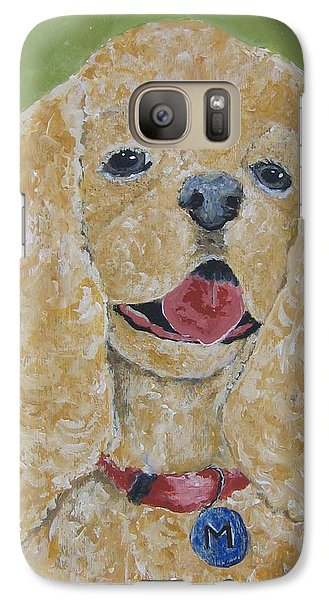 Galaxy Case featuring the painting Mikey by Suzanne Theis