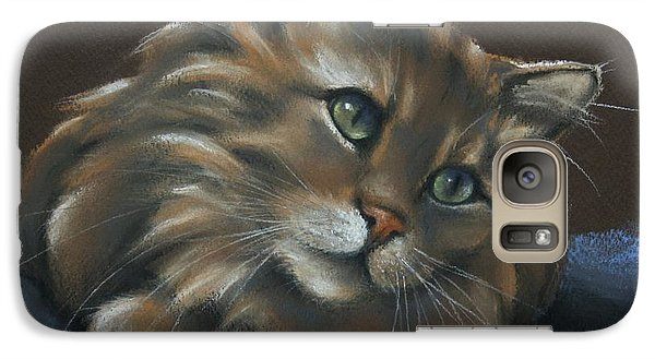Galaxy Case featuring the drawing Miko by Cynthia House
